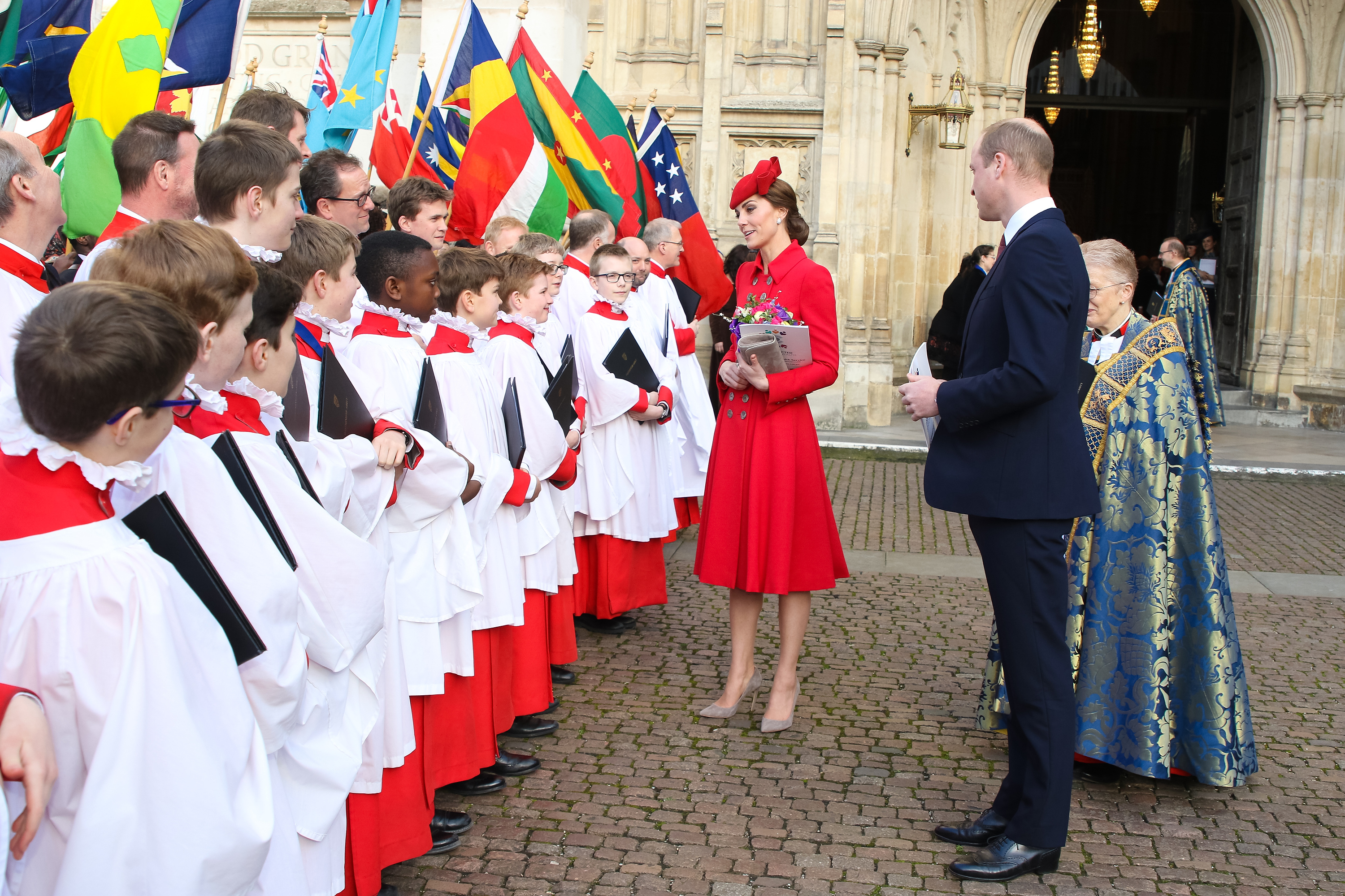 Her Majesty The Queen, accompanied by Members of the Royal Family attends The Commonwealth Service: A Celebration of the Commonwealth at Westminster Abbey.