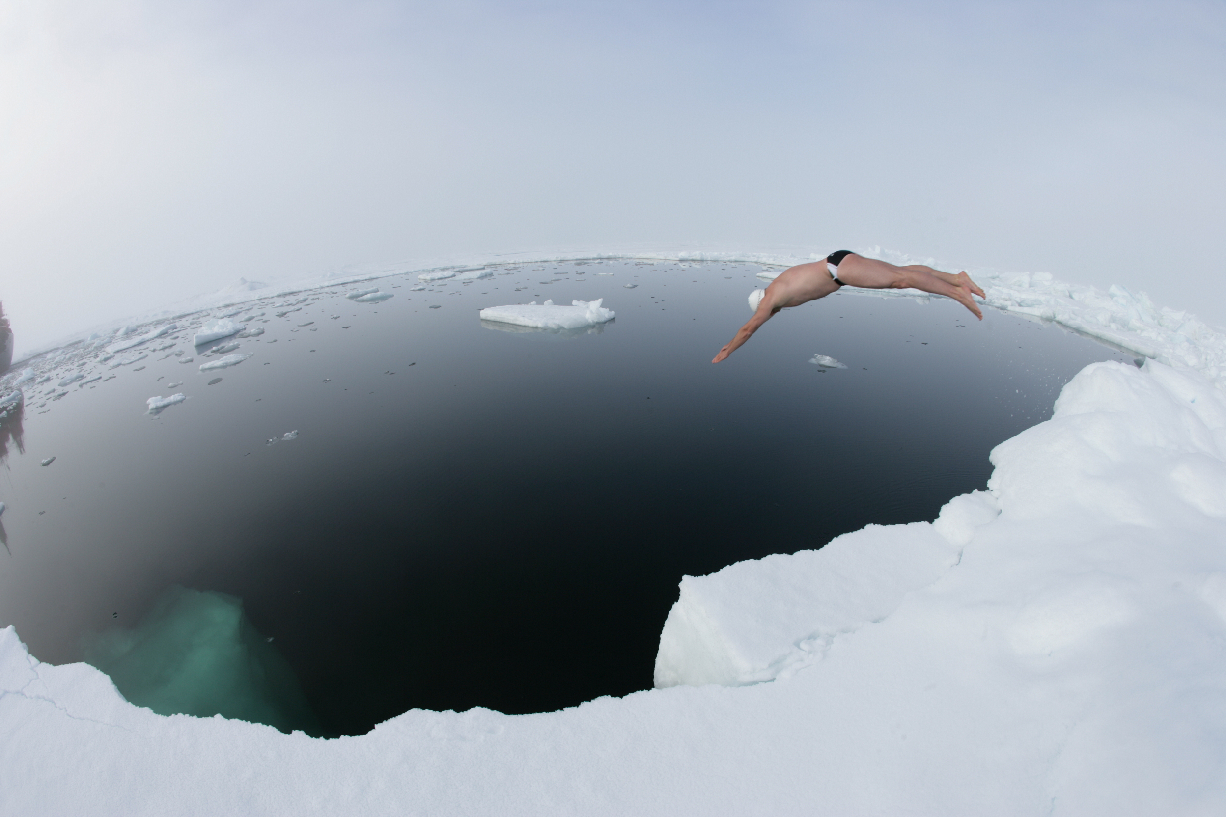 (c) Jason Reberts Lewis Pugh Diving in to the North Pole